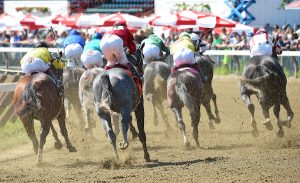 Scenes from around the track on Woodward Stakes day on September 03, 2016 at Saratoga Race Course in Saratoga Springs, New York. (Bob Mayberger/Eclipse Sportswire)